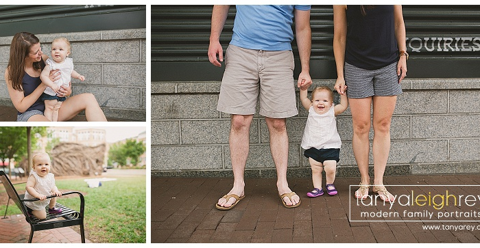 Reston VA Family Session – One Year Portrait
